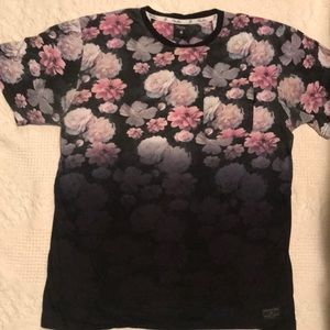 Primitive Apparel Floral Ombre Pocket Tee